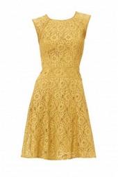 romantiska geltona suknele